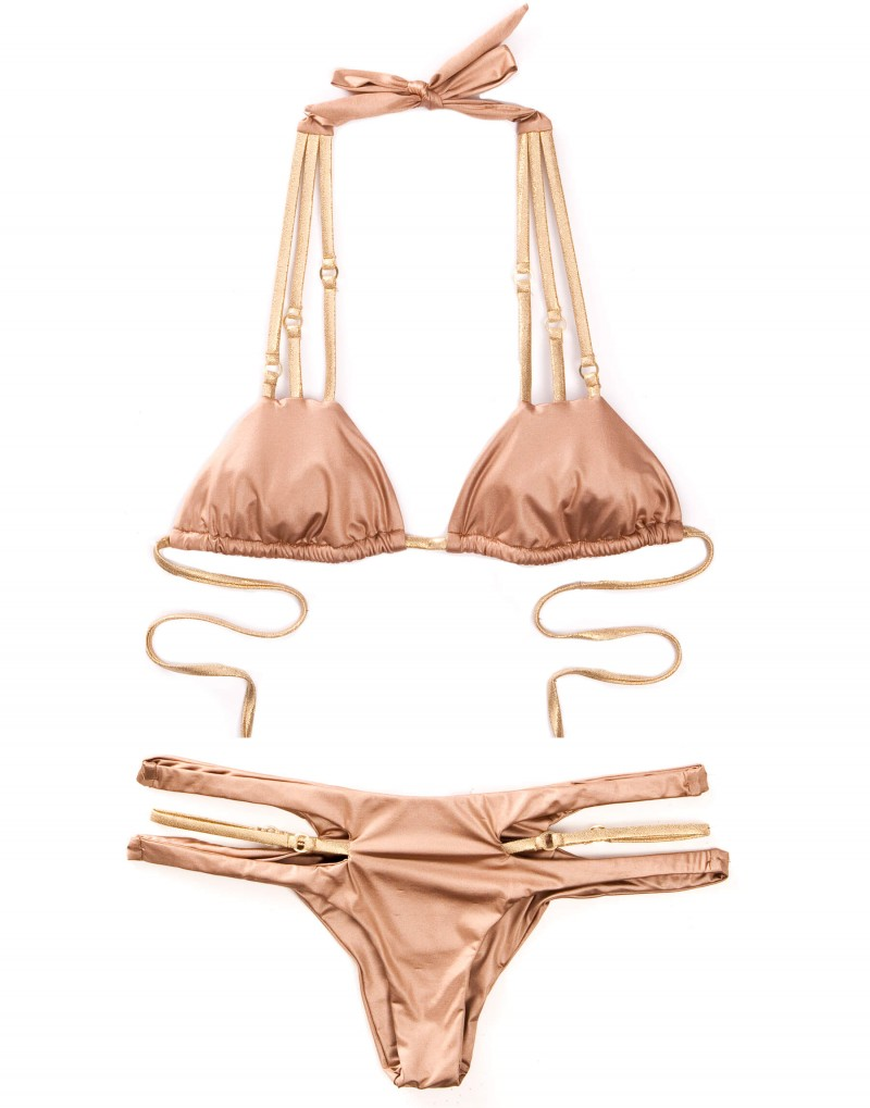 Купальник Beach Bunny Basics Cut Out Bikini Bronze - MixBikini