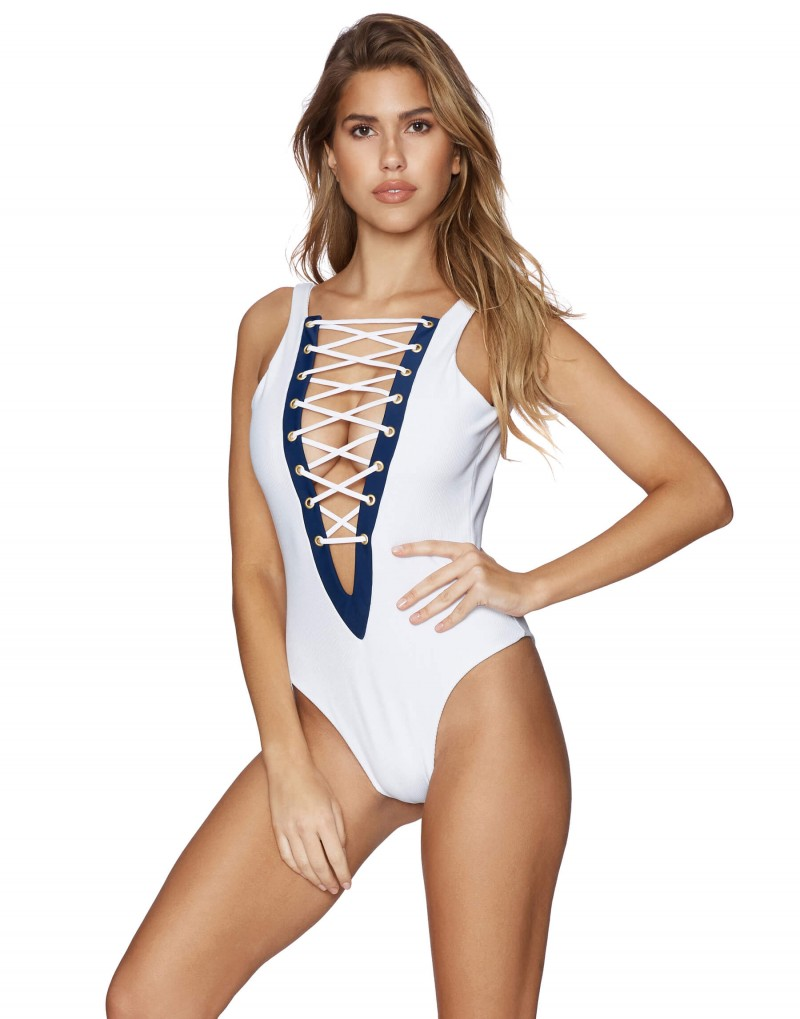 Купальник Beach Bunny Rib Tide One Piece - White - MixBikini