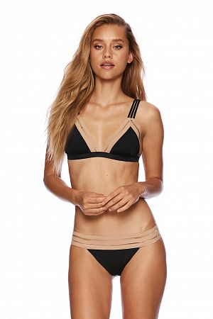 Лиф Beach Bunny Sheer Addiction Triangle Top Black Nude - MixBikini
