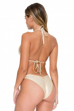 Плавки Luli Fama Strappy Brazilian Ruched Back Bottom - MixBikini
