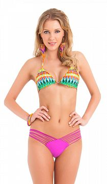Плавки Luli Fama Strappy Brazilian Ruched Back