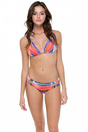 Лиф Luli Fama Bellamar Zig Zag Knotted Cut Out Triangle Top - MixBikini